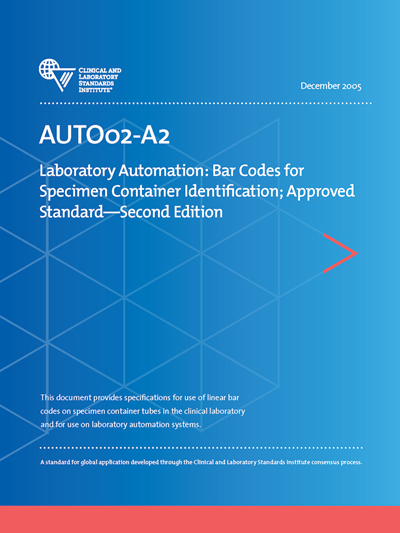 Laboratory Automation: Bar Codes for Specimen Container Identification, 2nd Edition