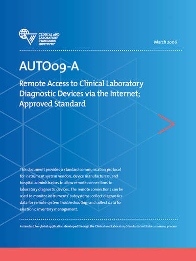 Remote Access to Clinical Laboratory Diagnostic Devices via the Internet, 1st Edition
