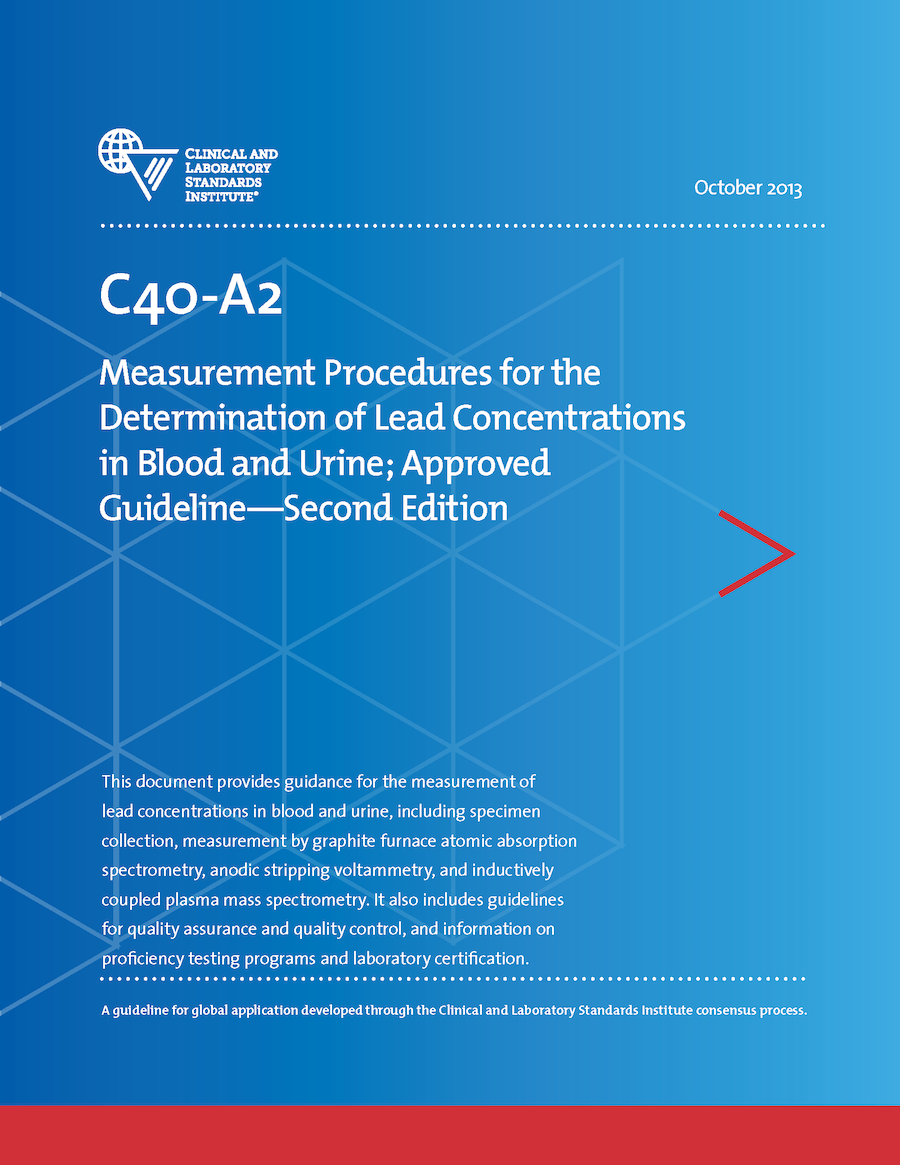 c40a2 measuring lead concentrations in blood urine rh clsi org
