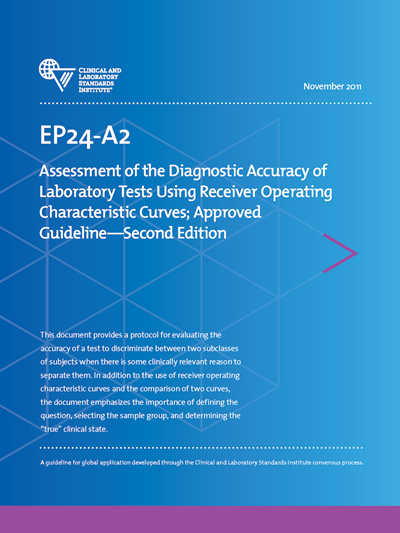Assessment of the Diagnostic Accuracy of Laboratory Tests Using Receiver Operating Characteristic Curves; Draft Guideline-Second Edition