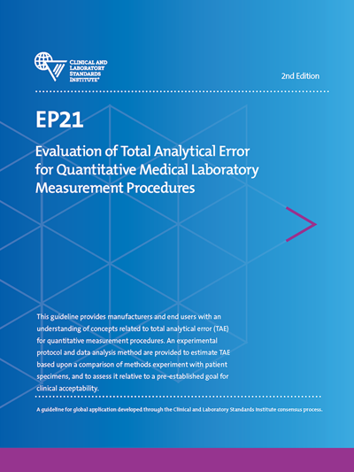 Evaluation of Total Analytical Error for Quantitative Medical Laboratory Measurement Procedures, 2nd Edition