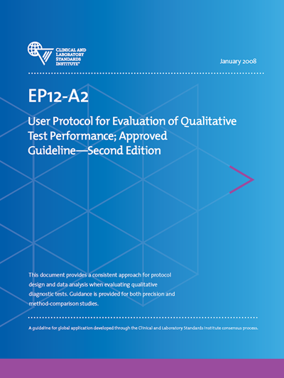 User Protocol for Evaluation of Qualitative Test Performance