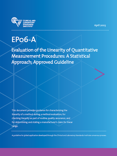 Evaluation of the Linearity of Quantitative Measurement Procedures: A Statistical Approach, 1st Edition