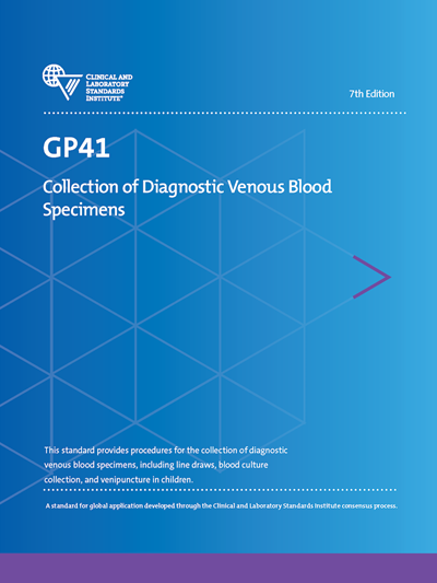 Collection of Diagnostic Venous Blood Specimens, 7th Edition