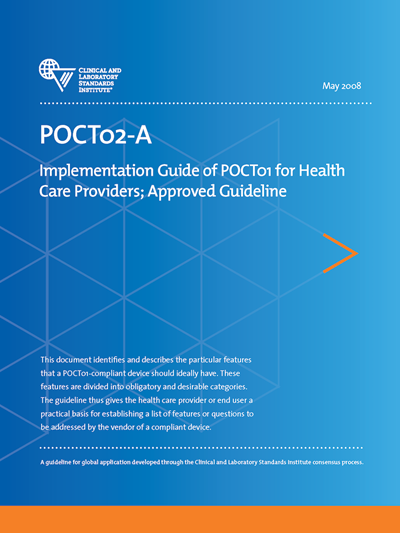Implementation Guide of POCT01 for Health Care Providers, 1st Edition