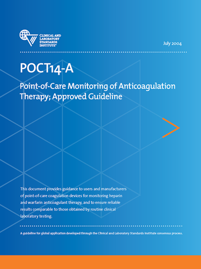 Point-of-Care Monitoring of Anticoagulation Therapy, 1st Edition