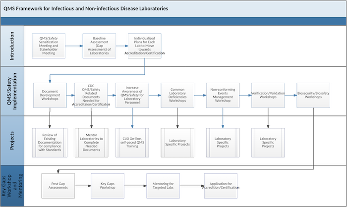 Flow chart of CLSI's Collaborative Process in Partnerships