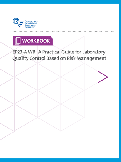 Laboratory Quality Control Based on Risk Management; Workbook