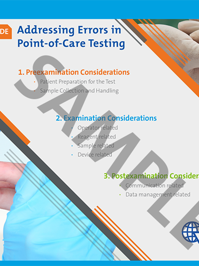 Addressing Errors in Point-of-Care Testing Reference Guide