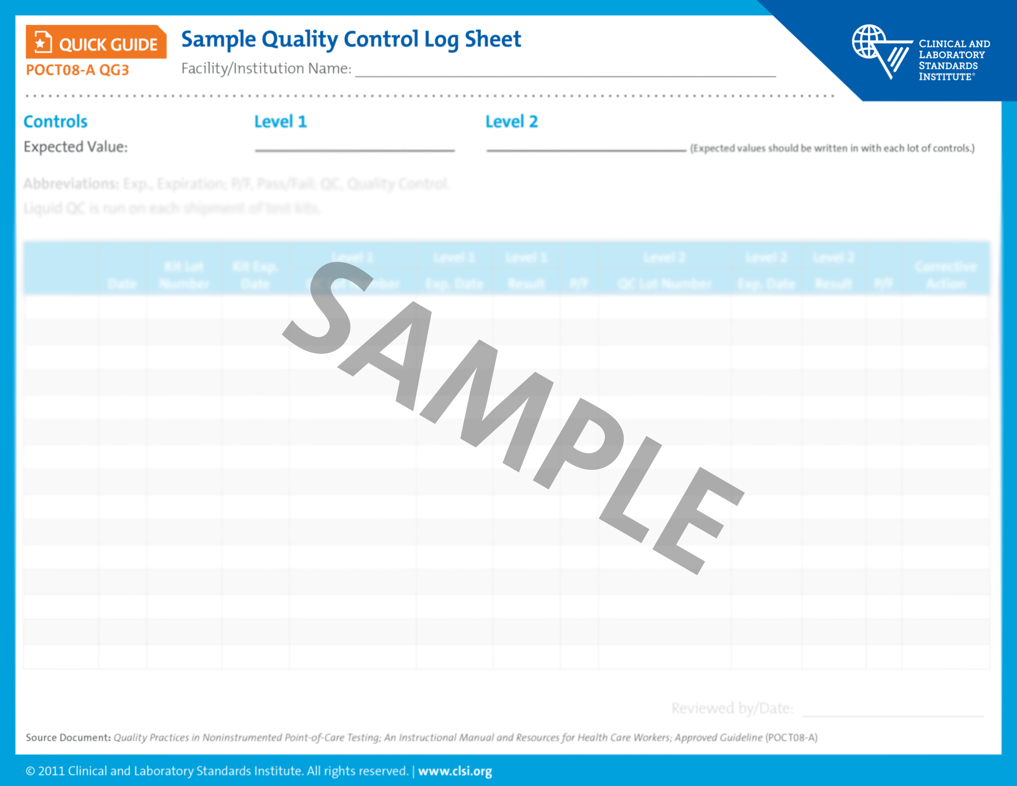 Quality Control Log Sheet Quick Guide View Sample Pages Png 3300x2550 Template