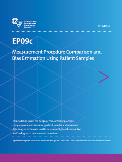 Measurement Procedure Comparison and Bias Estimation Using Patient Samples, 3rd Edition