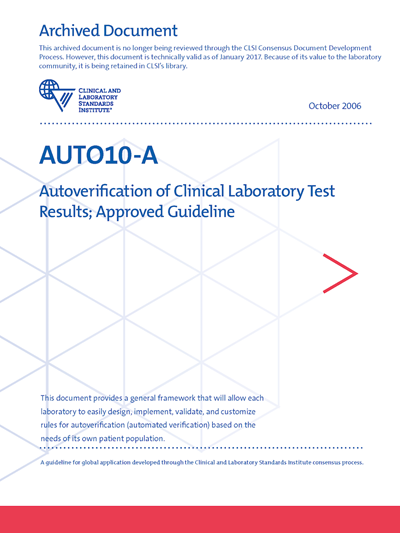 Autoverification of Clinical Laboratory Test Results, 1st Edition