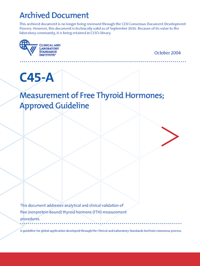 Measurement of Free Thyroid Hormones, 1st Edition