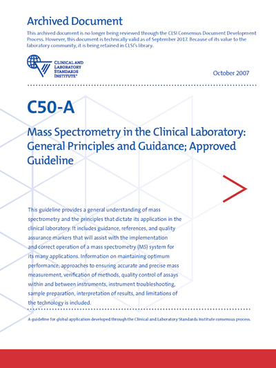 Mass Spectrometry in the Clinical Laboratory: General Principles and Guidance, 1st Edition