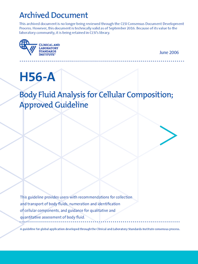 Body Fluid Analysis for Cellular Composition, 1st Edition