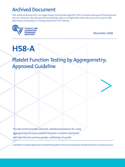 Platelet Function Testing by Aggregometry, 1st Edition