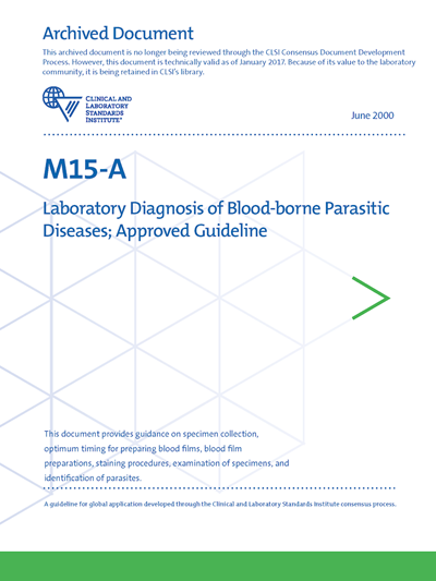 Laboratory Diagnosis of Blood-borne Parasitic Diseases, 1st Edition