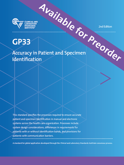 Accuracy in Patient and Specimen Identification, 2nd Edition