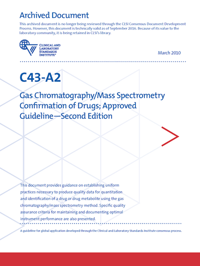 Gas Chromatography/Mass Spectrometry Confirmation of Drugs, 2nd Edition