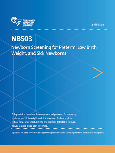 Newborn Screening for Preterm, Low Birth Weight, and Sick Newborns: What's new in NBS03?