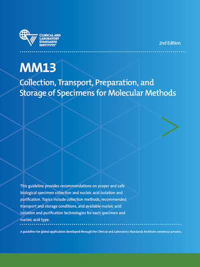 Collection, Transport, Preparation, and Storage of Specimens for Molecular Methods, 2nd Edition