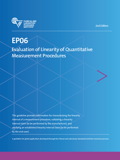 Evaluation of Linearity of Quantitative Measurement Procedures, 2nd Edition